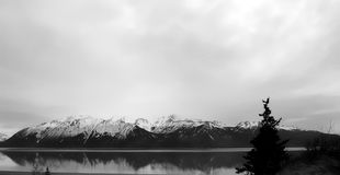 Montagne del braccio dell'Alaska Turnagain Immagini Stock Libere da Diritti