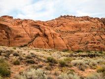 Montagne del canyon della neve immagine stock libera da diritti