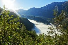 Montagne del Cile del fiume di Futaleufu immagini stock