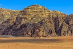 Montagne del deserto di Wadi Rum Fotografia Stock Libera da Diritti