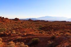 Montagne del deserto in valle del parco di stato del fuoco Immagini Stock