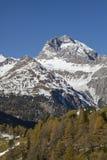 Montagne del distretto di Albula Fotografie Stock