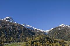 Montagne del distretto di Albula Fotografia Stock