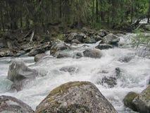 Montagne del fiume Fotografia Stock
