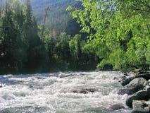 Montagne del fiume Fotografie Stock