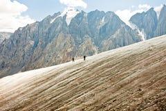 Montagne del ghiacciaio Fotografia Stock
