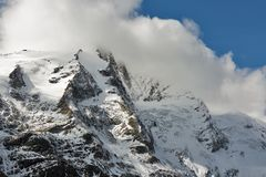 Montagne del ghiacciaio di Kaiser Franz Josef Grossglockner, alpi austriache Fotografie Stock Libere da Diritti