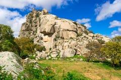 Montagne del granito e della roccia Fotografia Stock