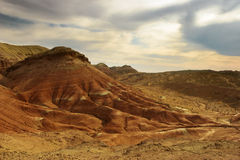 montagne del kazakhstan bianche Fotografia Stock Libera da Diritti