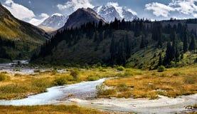 Montagne del Kazakistan fotografie stock libere da diritti