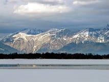 Montagne del lago Zell e delle alpi Immagine Stock Libera da Diritti