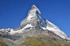 Montagne del Matterhorn in alpi, Svizzera Fotografie Stock Libere da Diritti