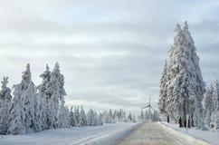 Montagne del minerale metallifero in repubblica Ceca di inverno Fotografia Stock