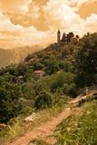 montagne del Montenegro della chiesa Immagini Stock