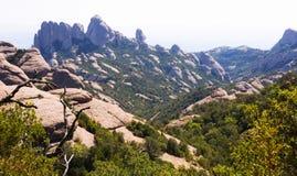 Montagne del Montserrat in Catalogna Fotografia Stock