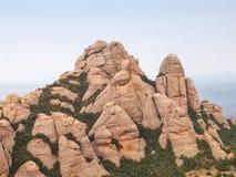 Montagne del Montserrat, Spagna Immagini Stock Libere da Diritti
