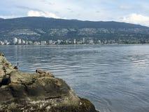 Montagne del nord di Vancouver Fotografie Stock Libere da Diritti
