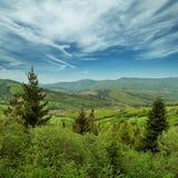 Montagne del paesaggio - Carpathians, Ucraina Fotografia Stock Libera da Diritti