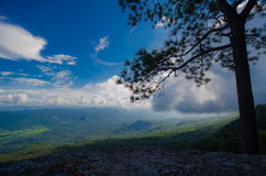 Montagne del paesaggio dal kradueng di Phu Fotografie Stock