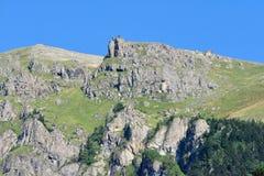 Montagne del Pontic sulla costa di Mar Nero della Turchia fotografia stock