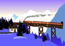 Montagne del treno Fotografia Stock Libera da Diritti