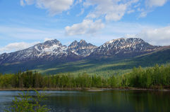 Montagne dell'Alaska e lago, Palmer Hays Flats Immagine Stock