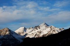 Montagne dell'alpe di inverno Immagini Stock Libere da Diritti