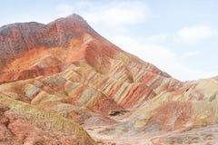 Montagne dell'arcobaleno di Danxia, provincia di Zhangye, Gansu, Cina Immagine Stock