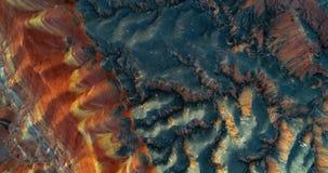 Montagne dell'arcobaleno - modello stupefacente creato di natura Immagini Stock Libere da Diritti