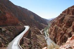 Montagne dell'atlante della gola del Marocco alte Immagini Stock Libere da Diritti