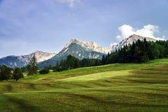 Montagne dell'Austria, alpi Fotografia Stock