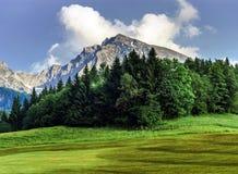 Montagne dell'Austria, alpi Immagini Stock