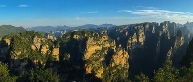 Montagne dell'avatar della montagna dello Shan di Tianzi, parti anteriori del cittadino di Zhangjiajie immagine stock