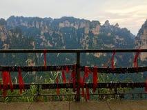 Montagne dell'avatar della montagna dello Shan di Tianzi, parti anteriori del cittadino di Zhangjiajie immagini stock
