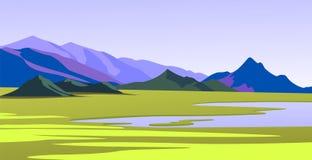 montagne dell'illustrazione Fotografia Stock Libera da Diritti