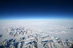 Montagne dell'Islanda dal cielo immagine stock