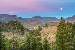 Montagne dell'isola di Gran Canaria Fotografia Stock Libera da Diritti
