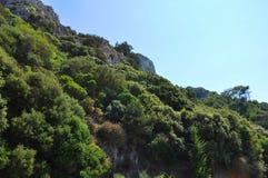 Montagne dell'isola di Samos immagine stock