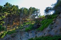 Montagne dell'isola di Samos fotografia stock libera da diritti