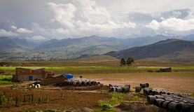 Montagne della Bolivia, altiplano Immagini Stock