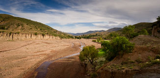 Montagne della Bolivia, altiplano Fotografia Stock Libera da Diritti