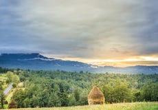 Montagne della campagna Fotografia Stock