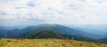 Montagne della catena montuosa montenegrina Fotografia Stock