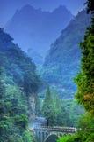 Montagne della Cina Wudang Fotografia Stock Libera da Diritti