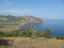 Montagne della Crimea Fotografie Stock