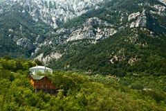 Montagne della Crimea di legno Fotografia Stock Libera da Diritti