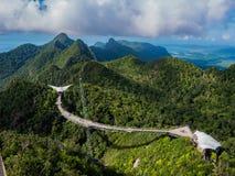 Montagne della Malesia e Langkawi Skybrige Immagini Stock