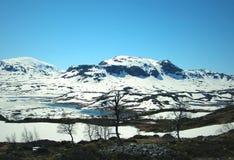 Montagne della neve Fotografia Stock