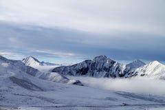 Montagne della neve del Tibet Immagini Stock