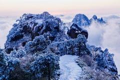 Montagne della neve della montagna Immagine Stock